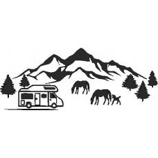 Mountains & Horses